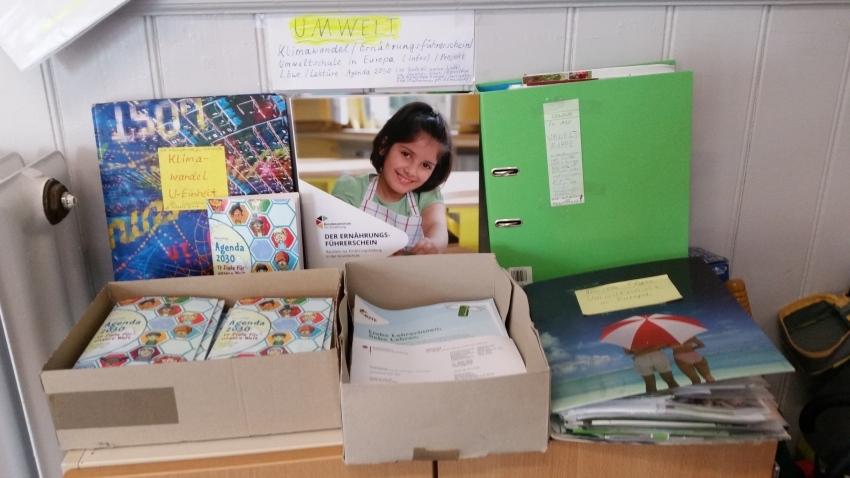Das Umweltmaterial im Lehrerzimmer